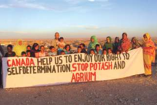Inhabitants of Western Sahara territory south of Morocco plea for an end to Canadian mining operations in the disputed territory.