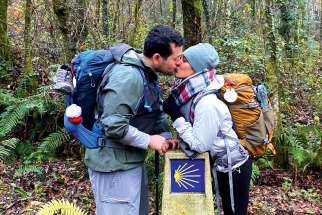 Karla and Jason De Los Reyes hiked the Camino de Santiago from Sarria to Santiago, Spain, in the days leading up to their Dec. 12, 2019, wedding.