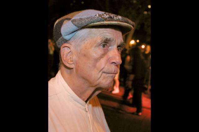 Jesuit Father Daniel Berrigan, an early critic of U.S. military intervention in Vietnam who for years challenged the country's reliance on military might, died April 30 at 94. He is pictured in a 2002 photo in New York.