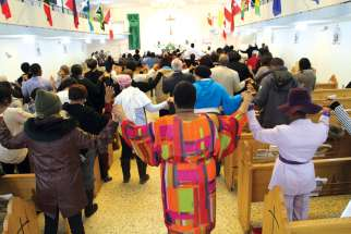 The pews and the centre aisle are filled at Our Lady of Good Counsel, the Archdiocese of Toronto's Caribbean parish. Bodies moving, hands clapping and voices rising in worship is the norm at the parish.