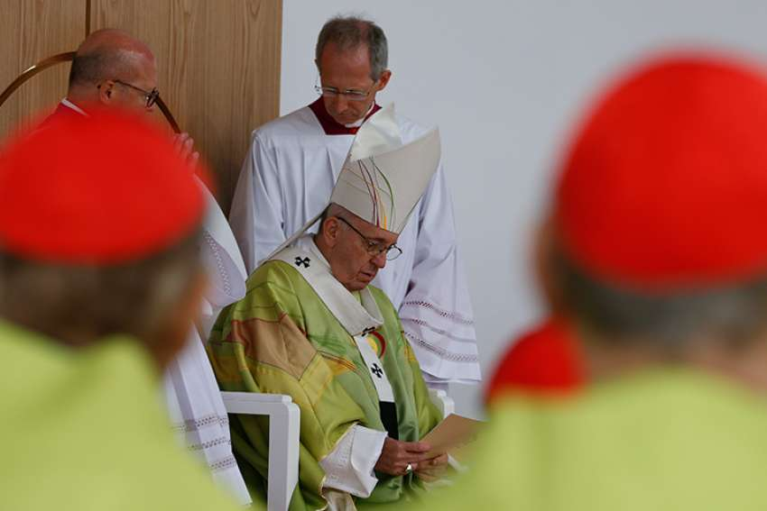 Pope Francis celebrates Mass at Phoenix Park in Dublin Aug. 26.