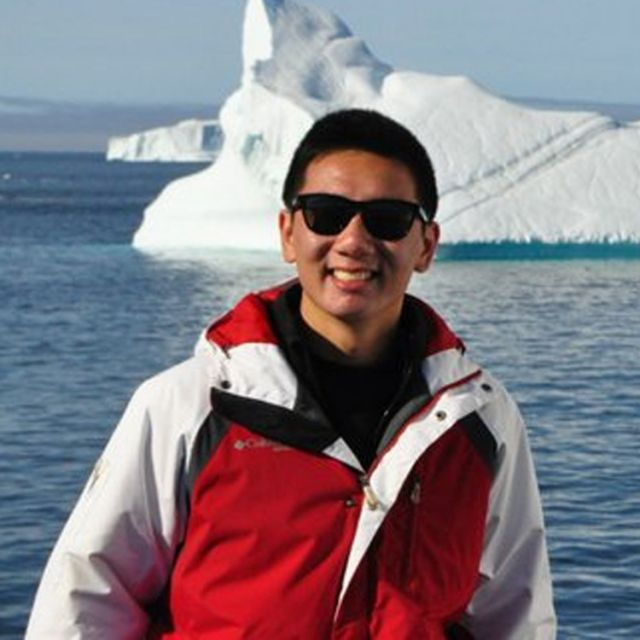 TD Scholarship winner Joey Loi during the two-week Students on Ice Expedition in the Arctic.