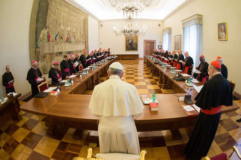 Pope Francis meets with heads of departments of the Roman Curia at the Vatican May 18. The Apostolic Penitentiary is one of the three tribunals of the Roman Curia.