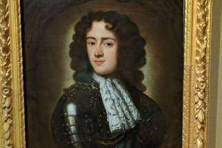 A portrait of the Duke of Monmouth. The portrait is said to have been painted after his head was chopped off and sewn back on his body.