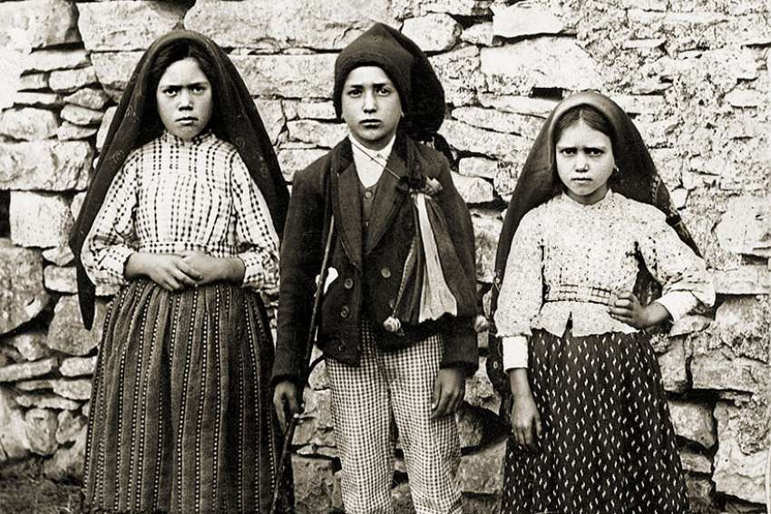 Pope Francis has approved the second and last miracle needed to canonize Blessed Jacinta, right, and Francisco Marto, centre, who along with their cousin Lúcia Santos witnessed the famed Marian apparitions in Fatima in 1917.