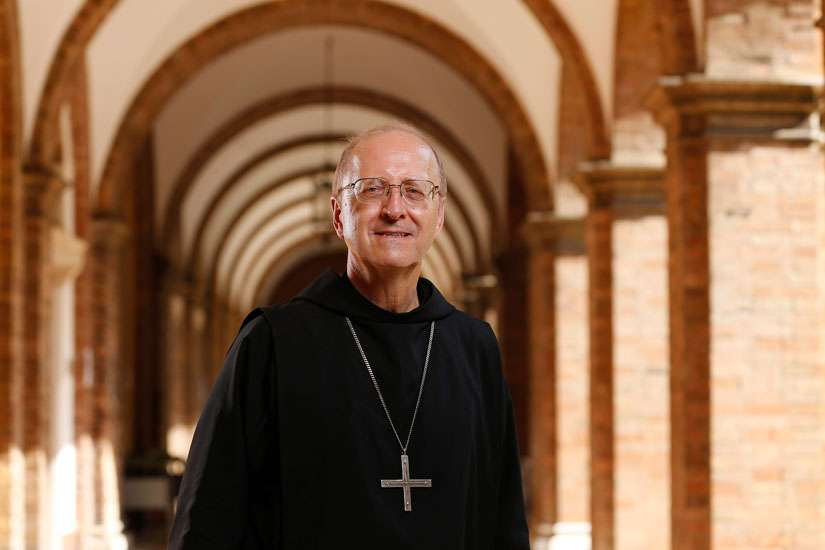 Abbot Gregory Polan, the new leader of the confederation of Benedictine monasteries, is pictured at St. Anselm Abbey in Rome Sept. 13. Abbots and priors from Benedictine men's communities around the world elected Abbot Polan of Conception Abbey in Missouri to be abbot primate.