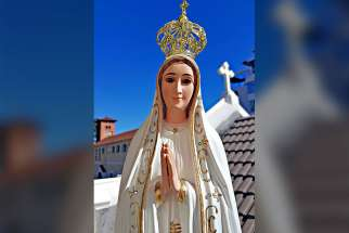 One of the more than 1,000 statues of Our Lady Fatima that retired Portuguese businessman Jose Camara has sent to parishes around the world is seen in Cape Town, South Africa.