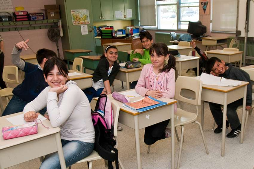 Students in an ESL class at St. Andrew's Catholic Elementary School in Toronto.