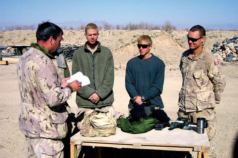 Then Padre Guy Chapdelaine, now Canada's Chaplain General, spent Christmas 2006 in Afganistan. Military chaplains must be prepared to minister to soldiers of all faiths and none.