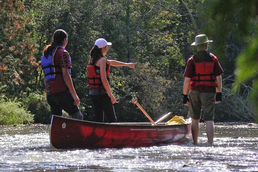 Andrew Starblanket, Krista Bowman and Erik Sorensen, will be part of a First Nations, Jesuit and laity group retracing the historic canoe route of St. Jean de Brebeuf from Midland, Ont., to Montreal.