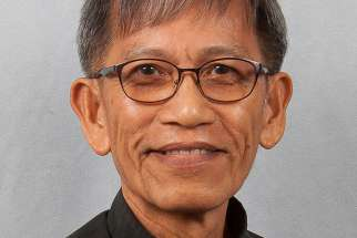 Father Medil Sacay Aseo, 63, a priest from the Philippines who is serving in the International Priests Program of the Diocese of Greensburg, Pa., has been appointed bishop of the Diocese of Tagum, Philippines, by Pope Francis. He is pictured in a 2017 photo.