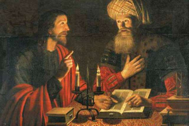 """Christ talking with Nicodemus at night"" by Crijn Hendricksz, 1645"