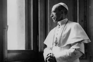 Pope Pius XII is pictured at the Vatican in a file photo dated March 15, 1949.