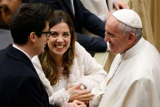 Each week dozens of newlyweds from around the world meet the pope and receive a special papal blessing at the general audience.