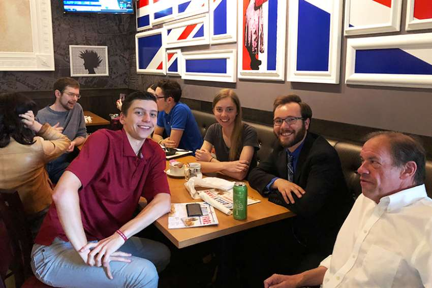 Young pro-lifers network and share new ideas for growing the movement at a Toronto pub.