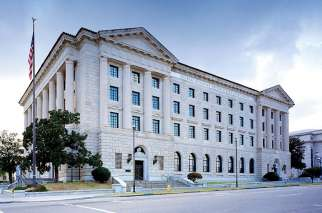 The Frank M. Johnson Jr. Federal Building and United States Courthouse in downtown Montgomery, Alabama. U.S. Magistrate Judge Susan Russ Walker struck down an Alabama law requiring more scrutiny for minors who seek an abortion without parental consent.