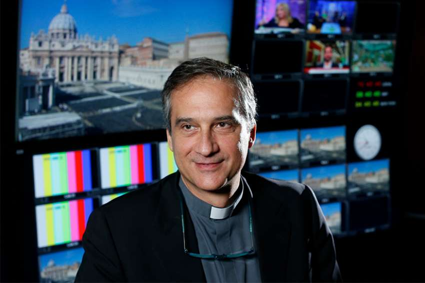 Msgr. Dario Vigano, then director of the Vatican Television Center, was named Secretariat of Communications by Pope Francis June 2015.