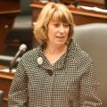Education Minister Laurel Broten addressing the Ontario legislature on Monday.
