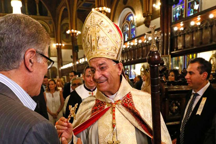 Lebanese Cardinal Bechara Rai, at Our Lady of Lebanon Maronite Cathedral in Brooklyn, N.Y., June 26. The patriarch of the Maronite Catholic Church, speaking in South Korea, urged the international community to end wars in the Middle East.