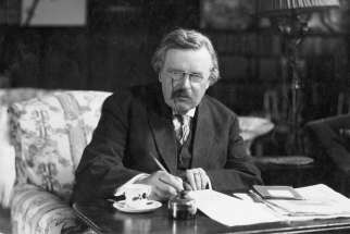 G.K. Chesterton at work.
