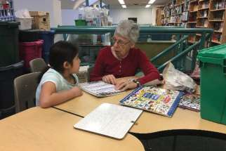 Rose Kostiuk has been a mainstay in the Sacred Heart School classroom as a volunteer for more than 20 years. She's been unable to continue due to pandemic regulations but is anxious to get back soon.