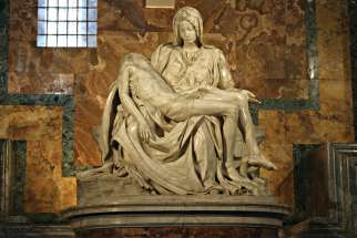 Michelangelo's Pieta at St. Peter's Basilica.