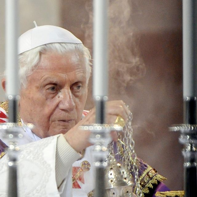 Pope Benedict XVI celebrates Ash Wednesday Mass in Church of Santa Sabina in Rome Feb. 22.