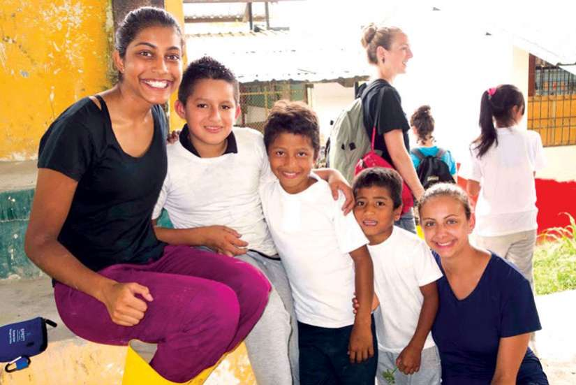 Caroline D'Souza said she learned the true meaning of charity during her mission trip to Quito, Ecuador.
