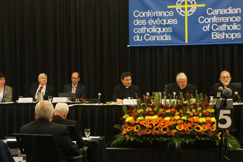 Canada's bishops, seen here at their 2017 plenary, are poised to approve a new document on sexual abuse at this year's plenary.
