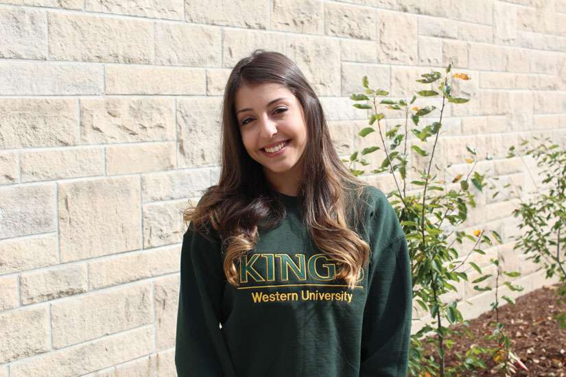 Katherine Papadopoulos left the comfortable climate of her home in Brazil to endure a Canadian winter to study at King's University College in London, Ont.