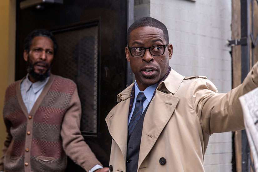"Ron Cephas Jones as William, left, and Sterling K. Brown as Randall in ""This Is Us"" on NBC."