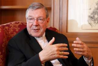 Australian Cardinal George Pell is pictured in a May 8, 2014, photo. An Australian appeals court Aug. 21, 2019, upheld the conviction of Cardinal Pell on five counts of sexually assaulting two choirboys more than two decades ago.