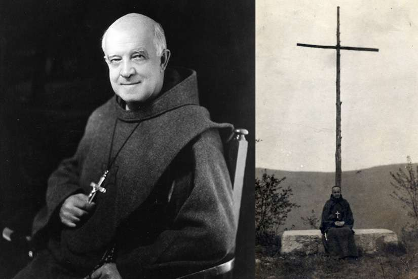 Fr. Paul Wattson's first act at Graymoor, N.Y. — where the Society of the Atonement was founded — was to make a cross out of an old cedar tree on the feast of Corpus Christi and carry it up the hill to the chapel, shown on the right.