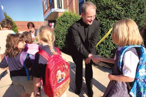 The local parish priest is an integral part of the local Catholic school and should be welcomed by the school community.
