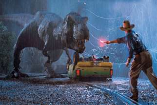 A scene from the Jurassic Park film, 1993.