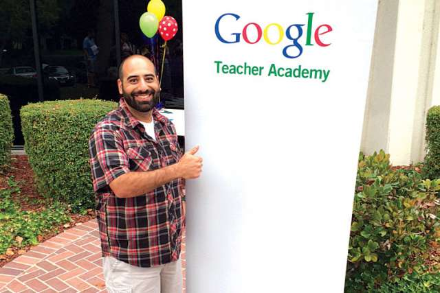 Rolland Chidiac, Waterloo Catholic's first Google Certified Teacher.