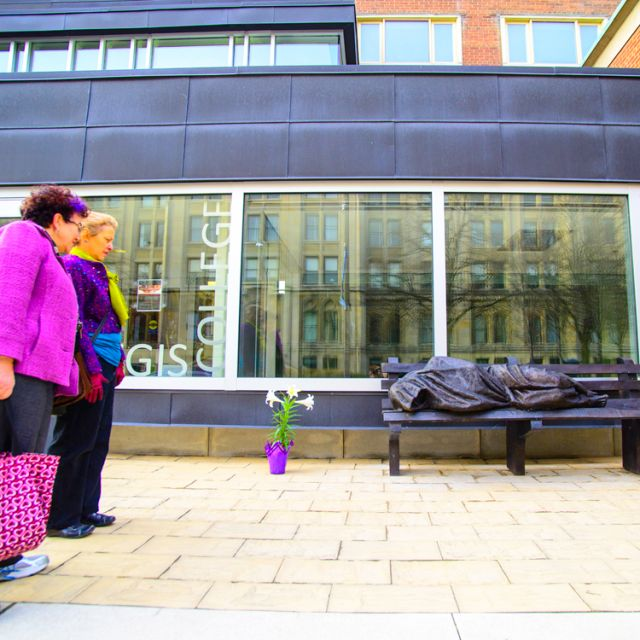 The Homeless Jesus sculpture outside Toronto's Regis College has been attracting plenty of attention.