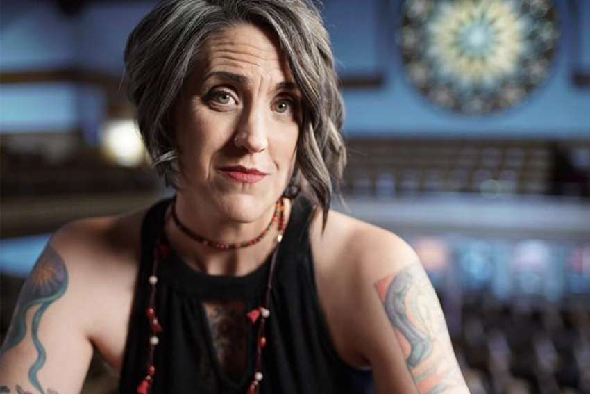 With sleeve tattoos, weightlifter's muscles and a foul mouth like a truck driver, Nadia Bolz-Weber ensures she is definitely not everyone's cup of tea.