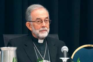 Bishop Lionel Gendron, president of the Canadian Conference of Catholic Bishops.