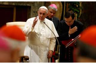 "In a speech before diplomats and world leaders on Jan. 12, the Pope urged them to end violence and pursue ""reconciliation, peace and defense"" of the dignity of each human being."