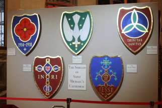 Cathedral shields a natural fit in Catholic worship