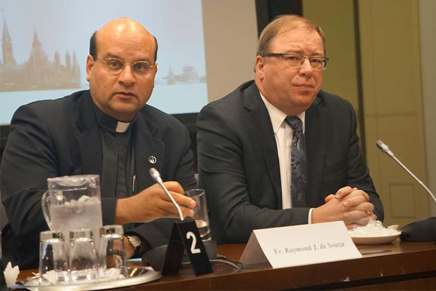 Fr Raymond de Souza, editor of Convivium.ca and Ray Pennings, vice president of Cardus participated in the 7th annual Parliamentary Forum on Religious Freedom Oct. 1.
