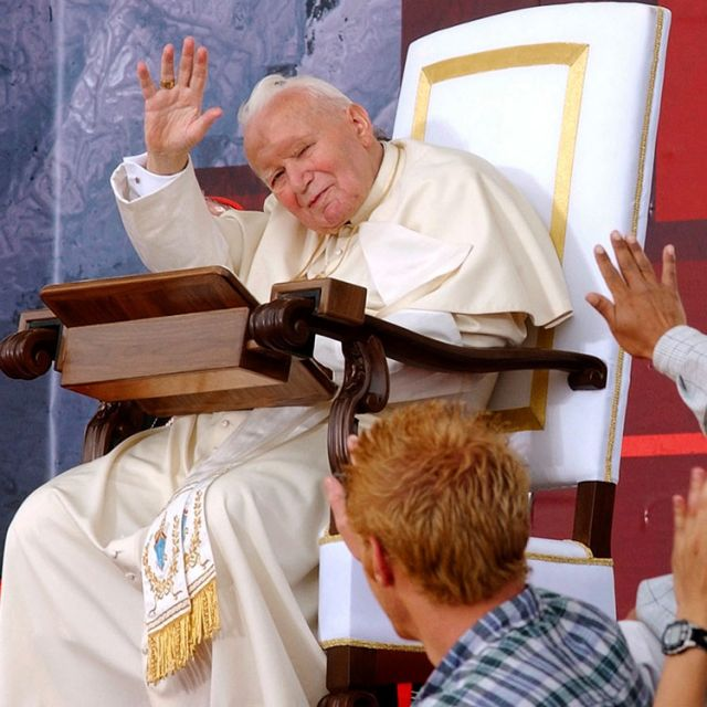 "ope John Paul II celebrated his final international World Youth Day in Toronto in 2002. The Polish-born pontiff, then age 82, described himself as ""old,"" but looked and sounded better than he had in months, demonstrating once again his special chemistry with young people."