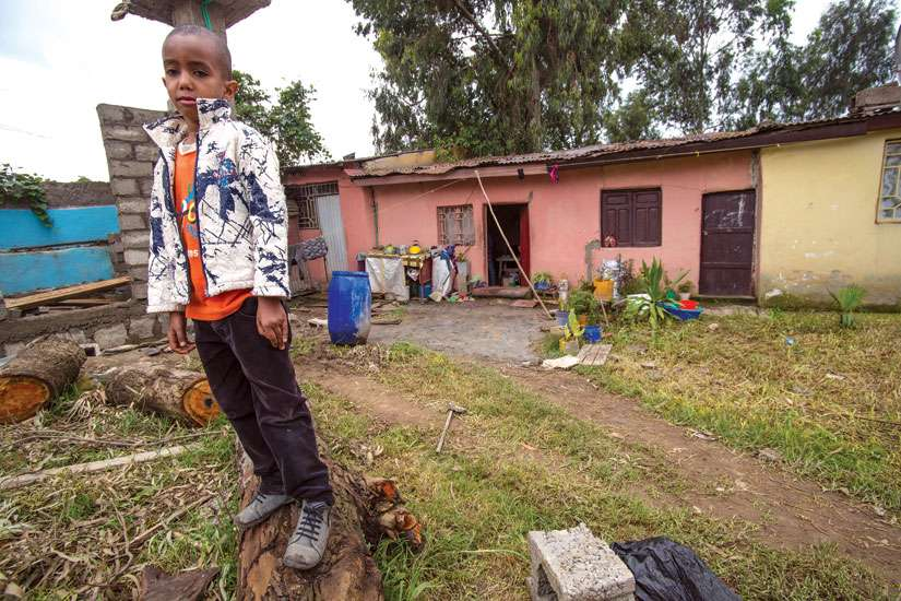 Seven-year-old Maranatha Anibal and his mother Yeshi Wubet are stuck in limbo in Ethiopia. The Eritrean refugees have been waiting for more than a year to hear if their refugee application to relocate to Canada will be processed. It takes an average of 59 months to be processed through Citizenship and Immigration Canada's Nairobi post.