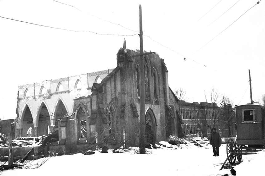 St. Joseph's suffered the most damage among Catholic churches in the Halifax Explosion.