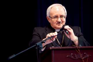 Bishop Valery Vienneau of the Archdiocese of Moncton.