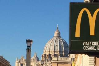 The McDonald's Restaurant just around the corner from St. Peter's Square has opened.