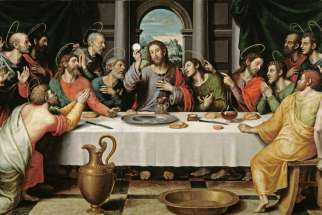 16th-century Juan de Juanes painting of the last supper.
