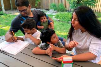 Vanessa Lobo and her husband Ray are homeschooling parents and have felt the effects of the pandemic just like parents who send their children to school.