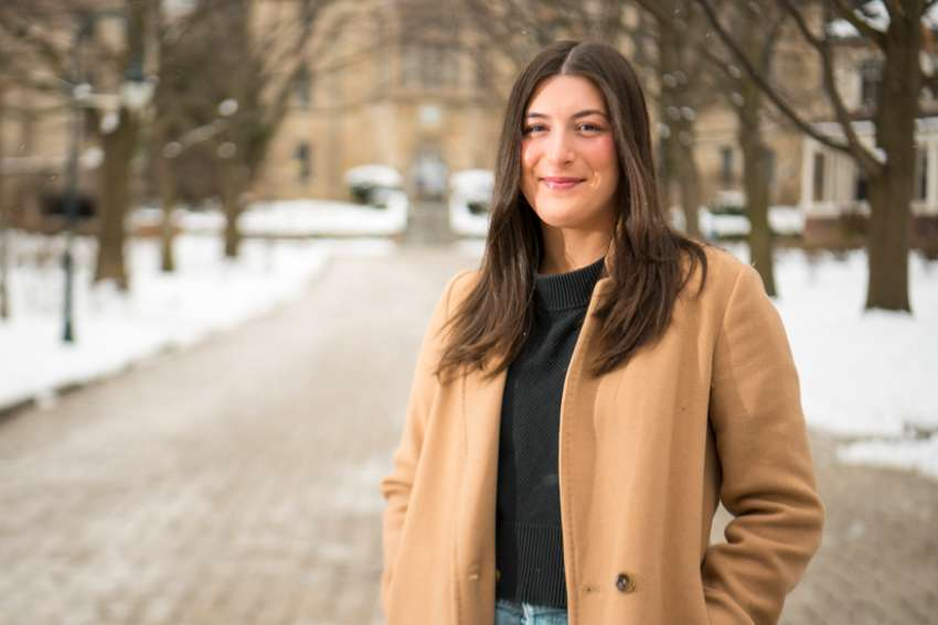 Mia Theocharis' PhD dissertation at the University of St. Michael's is on the role of Christianity in the Holocaust and beyond.